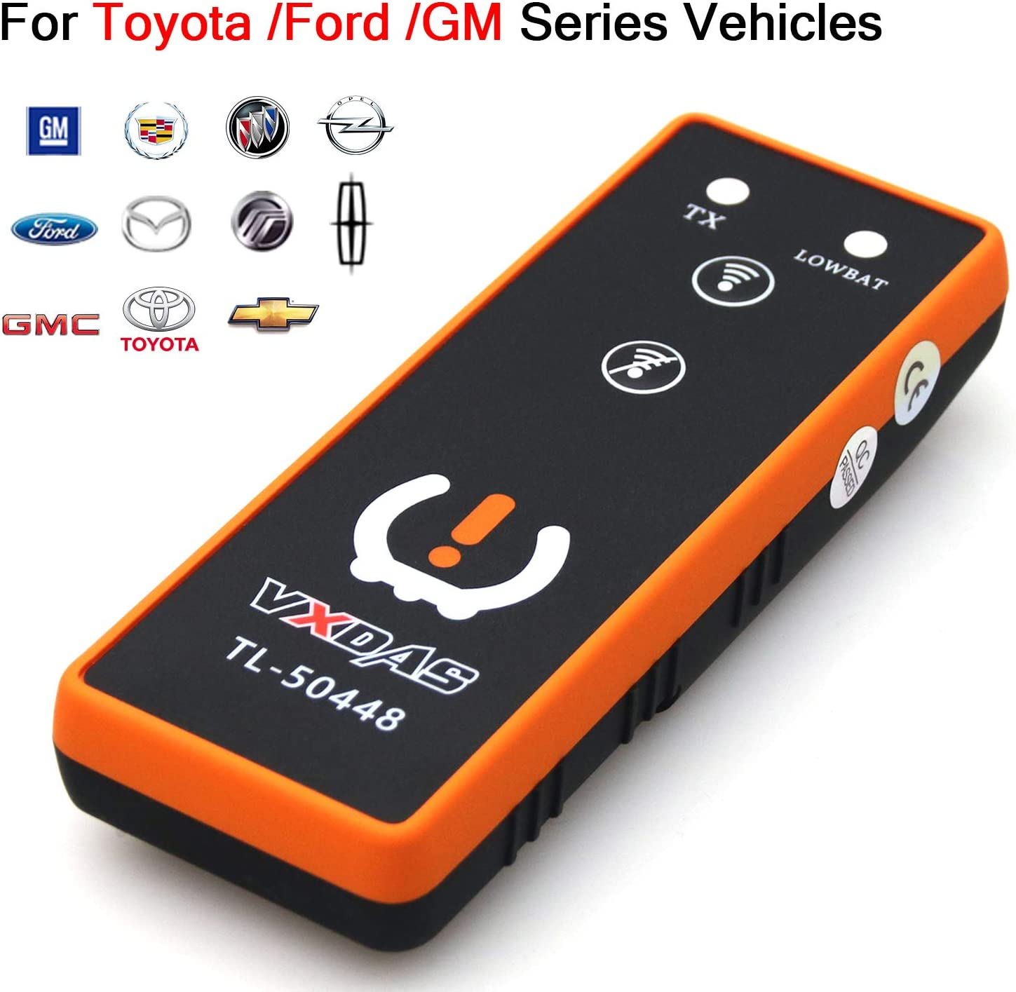 VXDAS 3IN1 TPMS Relearn Tool for Toyota GM and Ford Super TL50448 Tire Pressure Monitor Sensor TPMS Reset Tool 2020 Edition