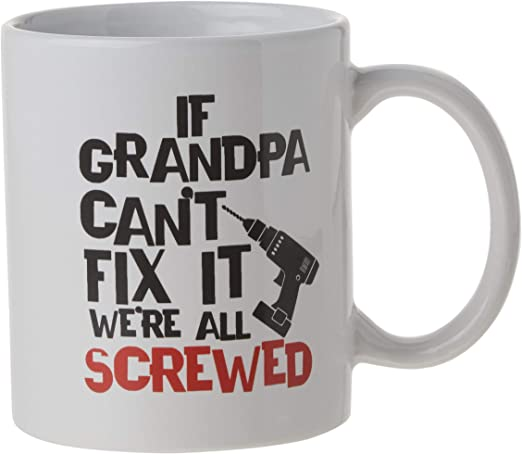11oz Christmas Stocking Stuffer or Birthday Gift for Dad If Papa Cant Fix It Were All Screwed Funny Coffee Mug Husband Fathers Day Gift for Dad