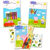 amazoncom peppa pig coloring tote book amp twist crayon