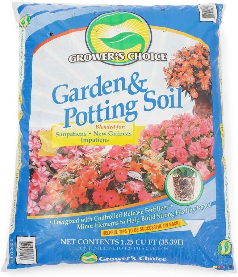 Pure Beauty Farms - Grower's Choice Garden Potting Soil Sunpatiens New Guineas Impatiens Mix 1.25 Cubic Feet