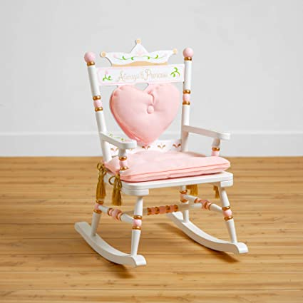 Personalized Childs Construction Puzzle Rocking Chair