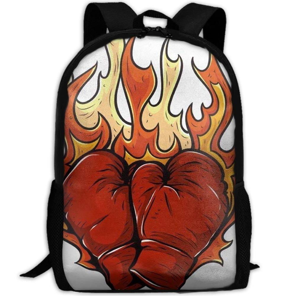 malsjk8ボクシンググローブFireスクールBookbagsバッグリュックサックのガールズ旅行バックパックキャンバスバックパックショルダーBookbags   B07G23H7YW