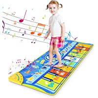 RenFox Alfombra Piano de Suelo Alfombra Musical de Teclado Alfombrilla Musical Tapete Baile Estera Piano Mat Touch Juego…
