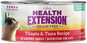 Health Extension Grain Free Tilapia & Tuna Recipe Canned Wet Cat Food - (24) 2.8 Oz Cans