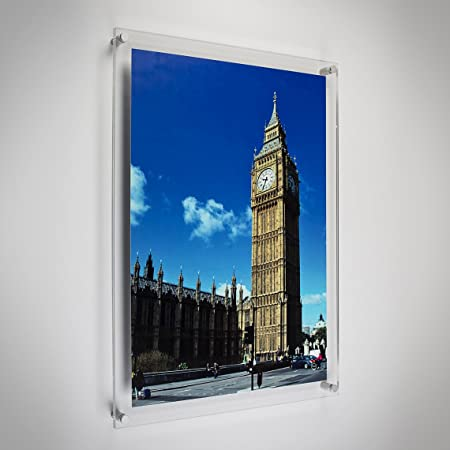 A2 Wall Mounted Acrylic Posterphoto Frame Amazoncouk Kitchen Home