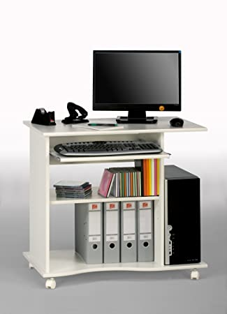 Computertisch drucker modern  MAJA-Möbel 4024 5535 Computertisch, weiß uni, Abmessungen BxHxT ...