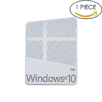 Original Microsoft Windows 10 Metallic Aufkleber 16 Mm X 22