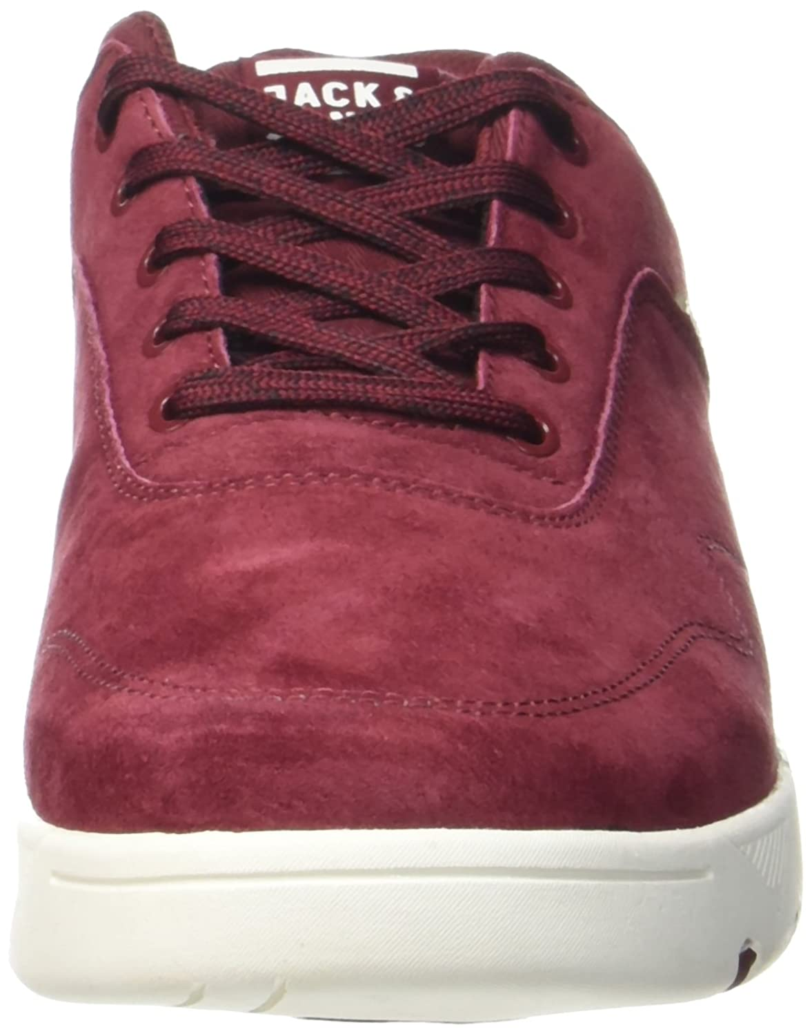 Jack & Jones Jfwhoughton Nubuck Burgundy, Sneakers Basses Homme, Violet (Burgundy), 42 EU