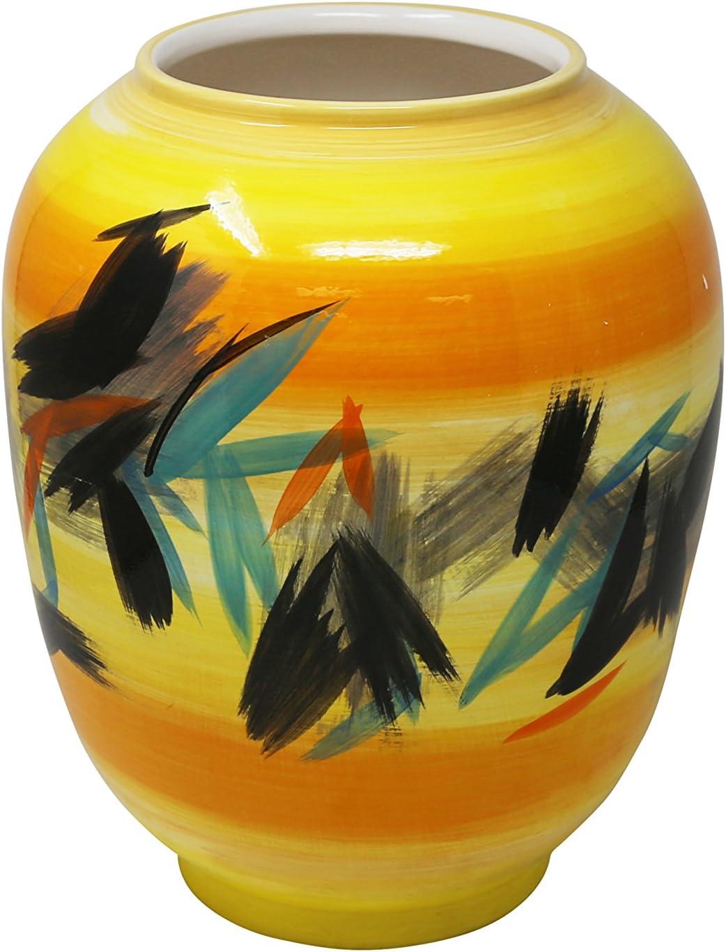 Sagebrook Home, Yellow Mix Decorative Ceramic Vase, 10.5
