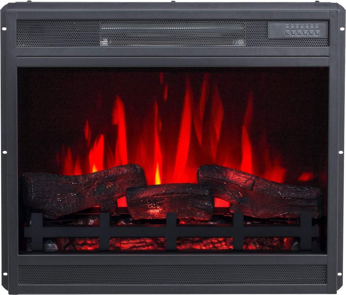 /900/ /1800/W avec commandes avant incassables en plaques de pl/âtre ou /à associer aux cadres Ruby Fires Rubyfires Insert pour chemin/ée /électrique Flandria Puissance 0/