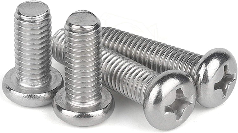 Length : 10mm, Size : M4 Meets shop Screws 100Pcs 50pcs M1 M1.2 M1.4 M1.6 M2 M2.5 M3 M4 DIN7985 GB818 304 Stainless Steel Cross Recessed Pan Head Screws Phillips Screws 20Pcs