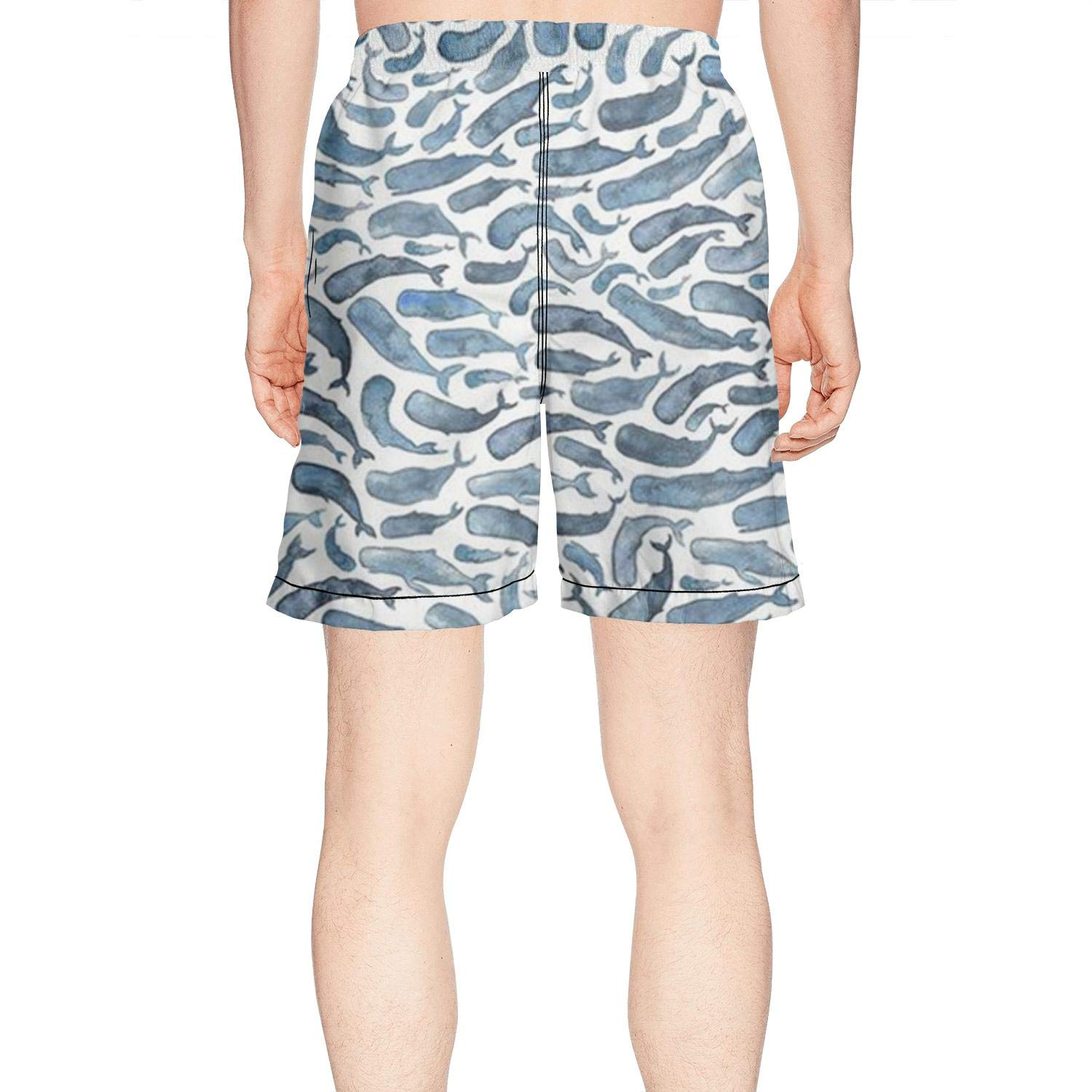 XULANG Mens for The Love of Whale Swim Trunks Jogging Skate Knee Length Boardshorts by XULANG (Image #2)