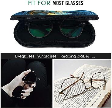 Star Trek Lower Decks Eyeglass Case Portable Travel Zipper Sunglasses Case Glasses Bag Guard Set