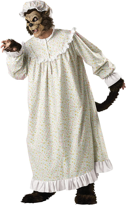 Grey Big Bad Wolf Mens Adult Halloween Costume