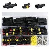 YASUOA 352Pcs Waterproof Car Electrical Wire Connector Terminals Plug Kit 1/2/3/4 Pin Truck Harness Plug Car Spark Plug…