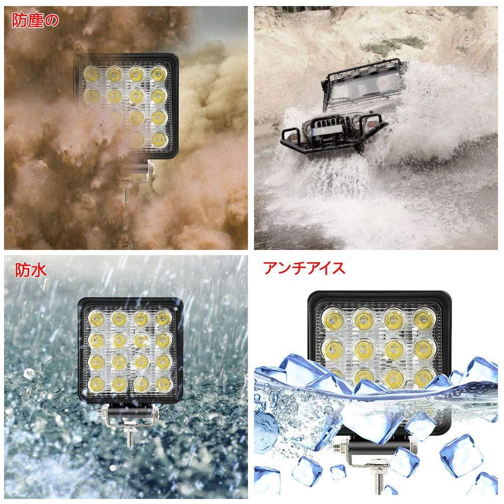 1PC 48W Led Fog Light Bar 4.3Inch Outdoor Led Light Bar 3600LM Off Road Light Bar 6500K Night Driving Lights Spot Light Bar for 4×4 SUV,UTV,Jeep,Cabin,Boat,Ship,ATV,Deck,Mining(18 monthes Warranty)