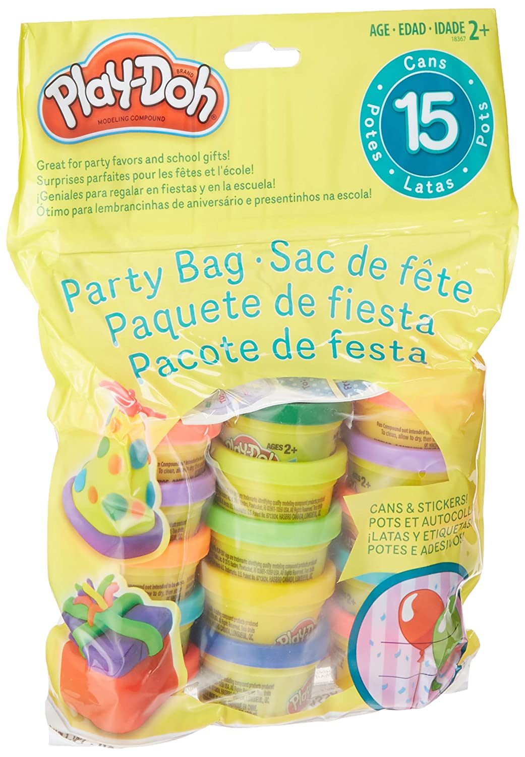 Play Doh UPC 2 X Party Bag Dough 15 Count Assorted Colors 2 Pack