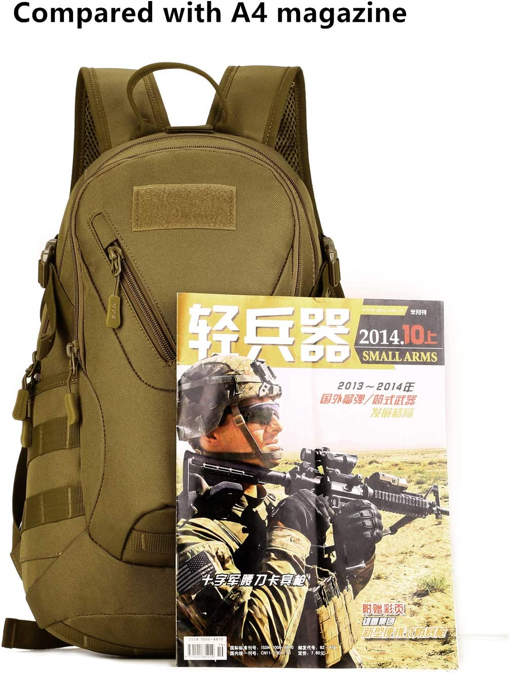 Yakmoo Mochila de Asalto 20L Estilo Militar Táctico Molle Sistema Bolsa de Estudiante Impermeable al Aire Libre