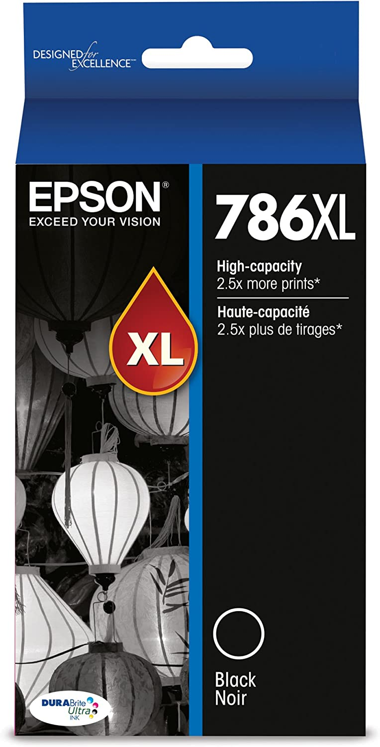 Epson T786XL120-S DURABrite Ultra High Capacity Cartridge Ink Black