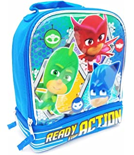 PJ MASKS GECKO CATBOY Lead Safe Dual Chamber Insulated Lunch Tote Box