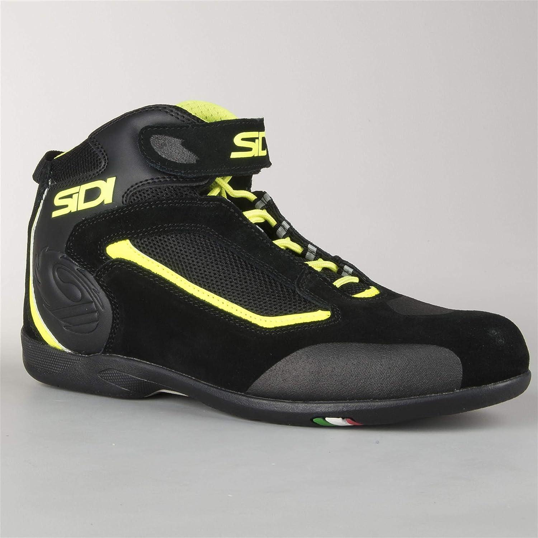 Chaussures de Moto Sidi Gas Noir-Jaune fluo42