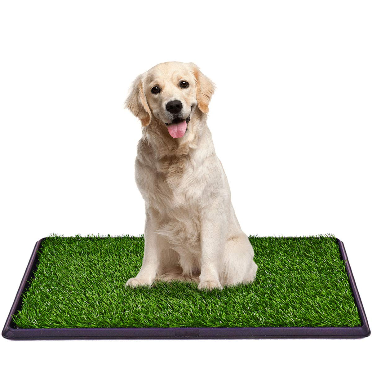Giantex Dog Puppy Pet Potty Pad Home Training Toilet Pad Grass Surface Portable Dog Mat Turf Patch Bathroom Indoor Outdoor (30''x20'')