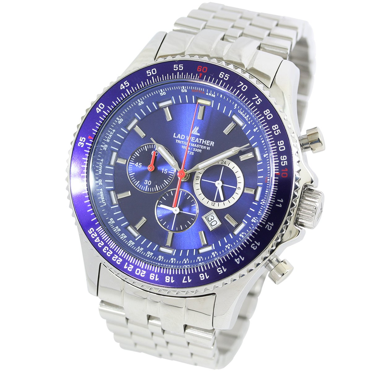 [LAD WEATHER] Swiss Tritium Pilot Chronograph Circular Logarithmic Slide Rule 100 Meter's Water Resistant Men's watch by LAD WEATHER