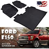 EDITOP Floor Mats 4XBEAM Liners Super Crew Cab Compatible for 2015-2018 Ford f150 Guard, Includes 1st & 2nd Front Row and Rear Floor Liner Full Set