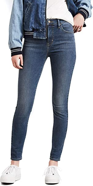 Levis 720 HIGH-RISE SUPER SKINNY -SLIM THROUGH HIP AND ...