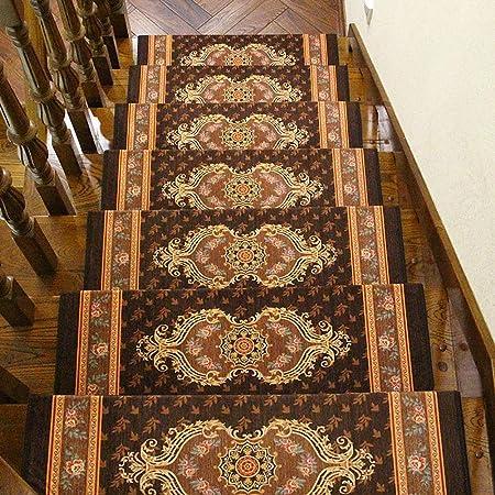 Antideslizantes para escaleras Alfombra Autoadhesiva para Escaleras Almohadilla De Peldaño De Escalera Jacquard Alfombra De Casa Decoración De La Villa TZXSHO: Amazon.es: Hogar