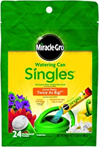 Miracle-Gro 1013202 Watering Can Singles - Includes 24 Pre-Measured Packets of Miracle-Gro All Purpose Plant Food (Plant Fertilizer)(2Pack)