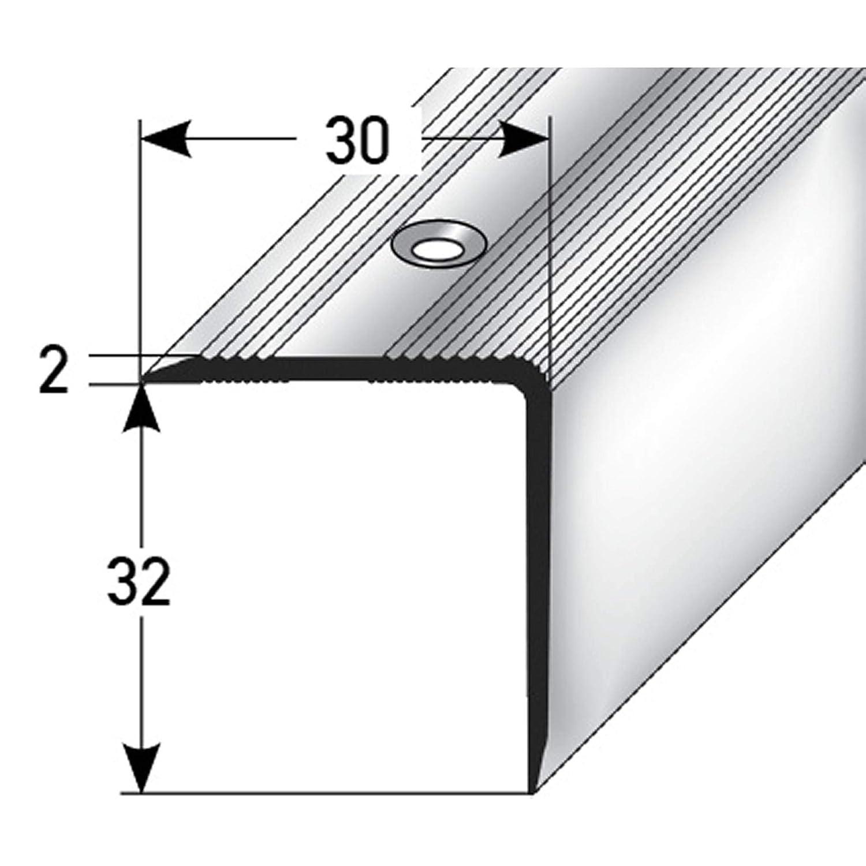 32x30 mm Angle descalier 170cm long Profil de bord escalier Bord de lescalier Profil des marches descalier Bronze fonc/é