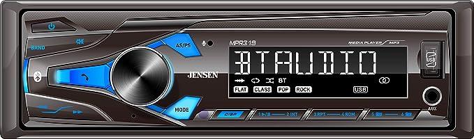 jensen car cd player wiring diagram amazon com jensen mpr319 single din car stereo receiver with 7  jensen mpr319 single din car stereo