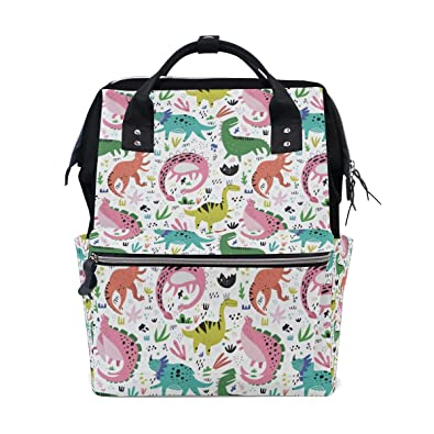 4623313ad8 Unisex Casual Daypack Cute Jurassic World Dinosaurs Colorful Womens  Mountaineering Bag Men s College Bookbag Adults Laptop