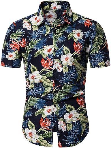 Camisas Hawaianas Aloha Camisa de Manga Corta Playeras Florales de Verano de Verano: Amazon.es: Ropa y accesorios