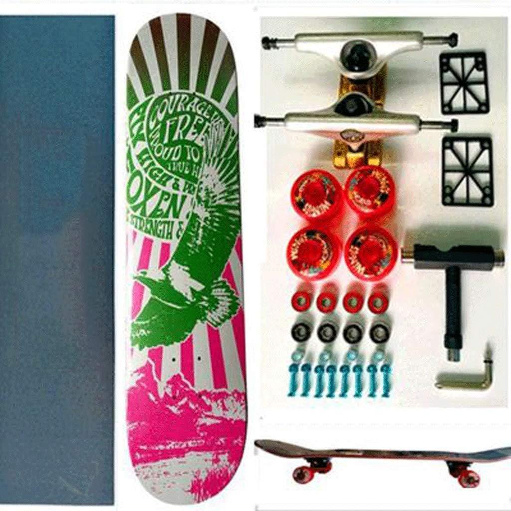 KYCD Hoch mit 4 Runden professioneller Double-Up-Skateboards B07PVVKTZF Longboards Qualität zuerst