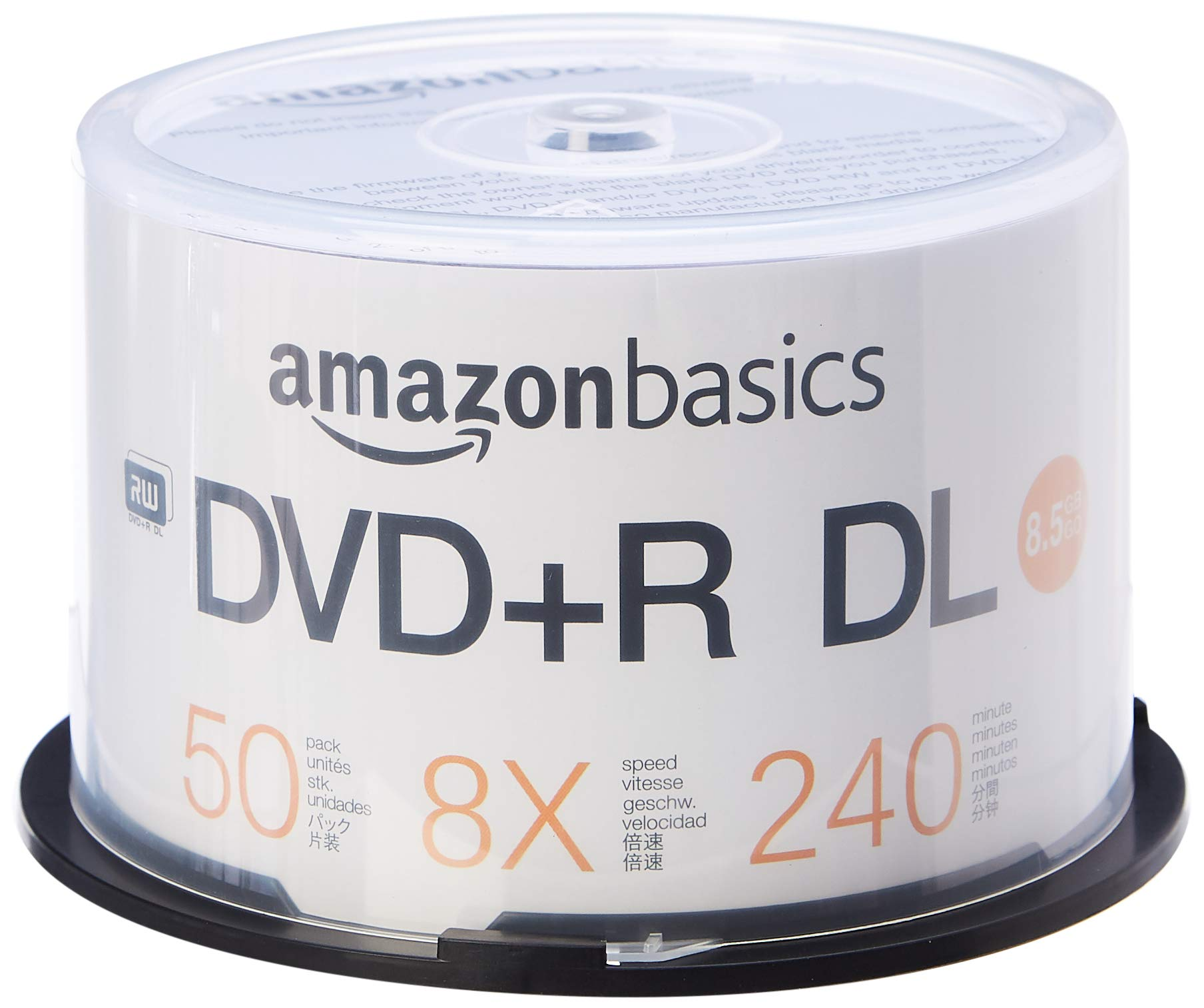 AmazonBasics 8.5GB 8x DVD+R DL - 50-Pack Spindle