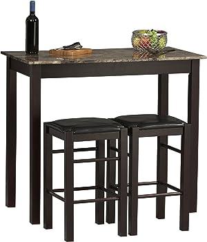 3-Piece Linon TavernTable and Stool Set