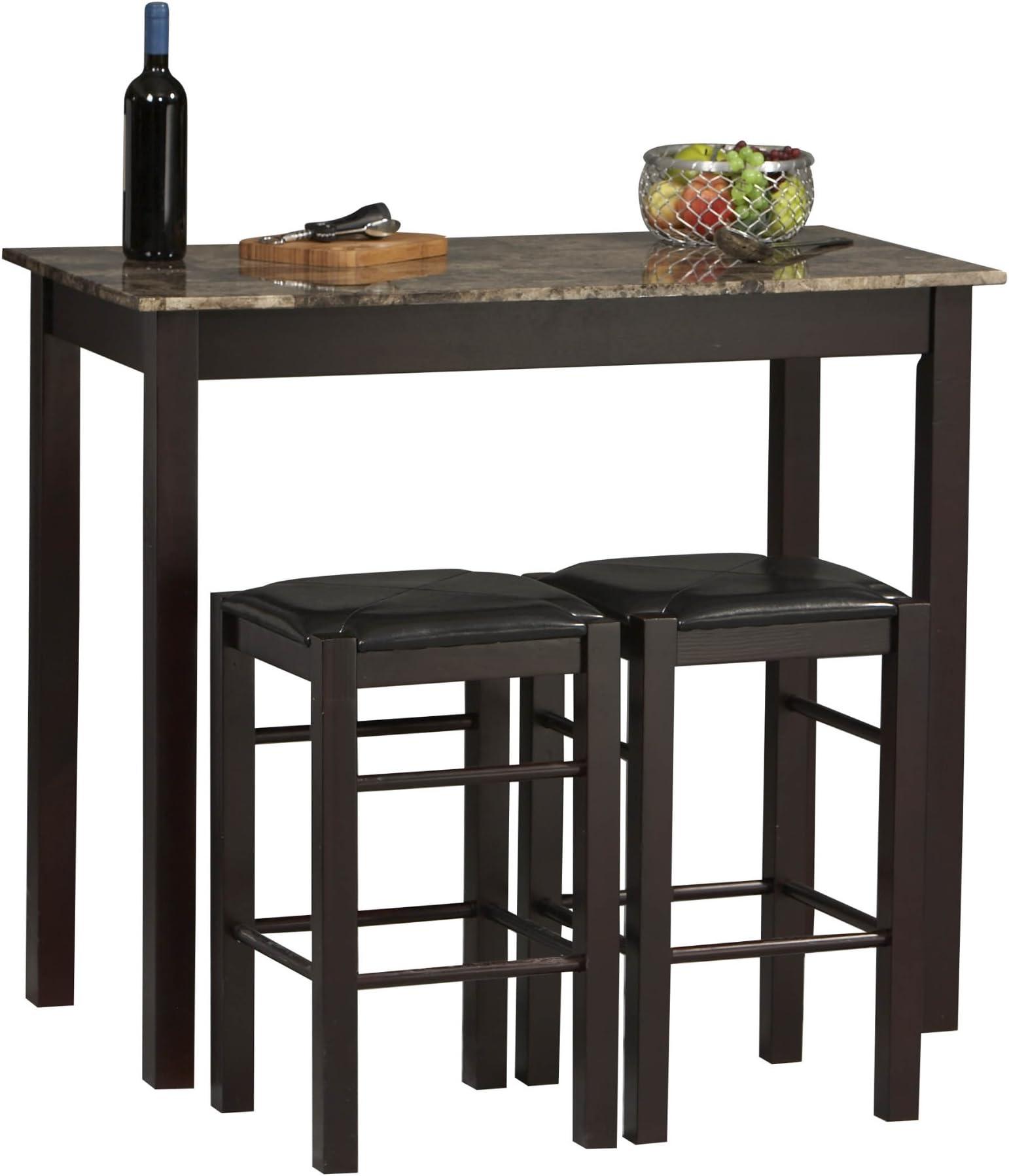 Linon Tavern Collection 3-Piece Table Set  sc 1 st  Amazon.com & Table \u0026 Chair Sets | Amazon.com