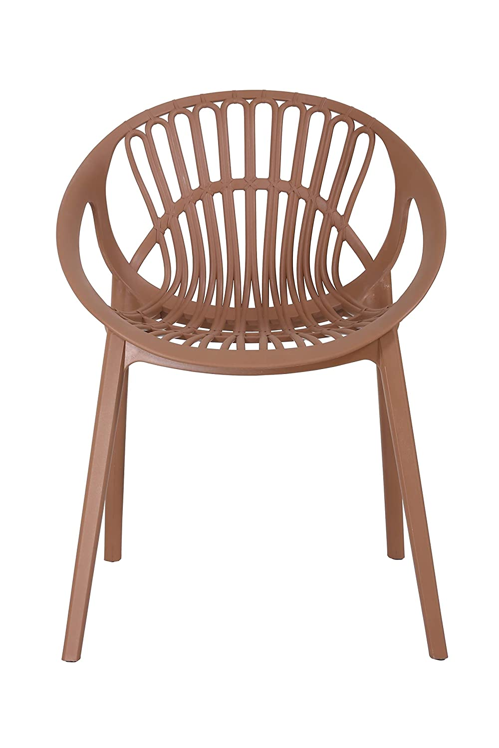 Innowin Olive Garden Chairs Indoor Outdoor Use Chair Chairs For Restaurants Chairs For Dining Room Cafe Pack Of 1 Brown Amazon In Home Kitchen