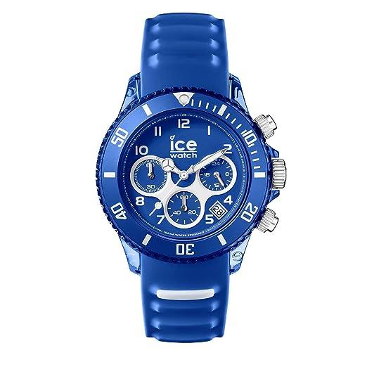 Ice-Watch Reloj Cronógrafo para Hombres de Cuarzo con Correa en Silicona 12734: Amazon.es: Relojes