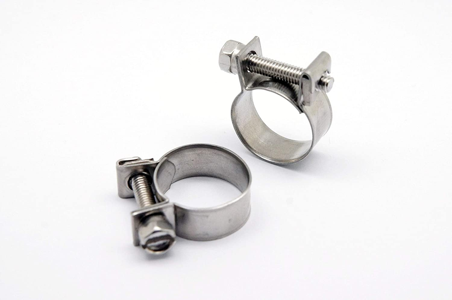 OD 0.75 19mm 76mm Chrome Polish Includes 2 G-Clamps L 3 Autobahn88 Aluminum Alloy Hose Joiner Pipe
