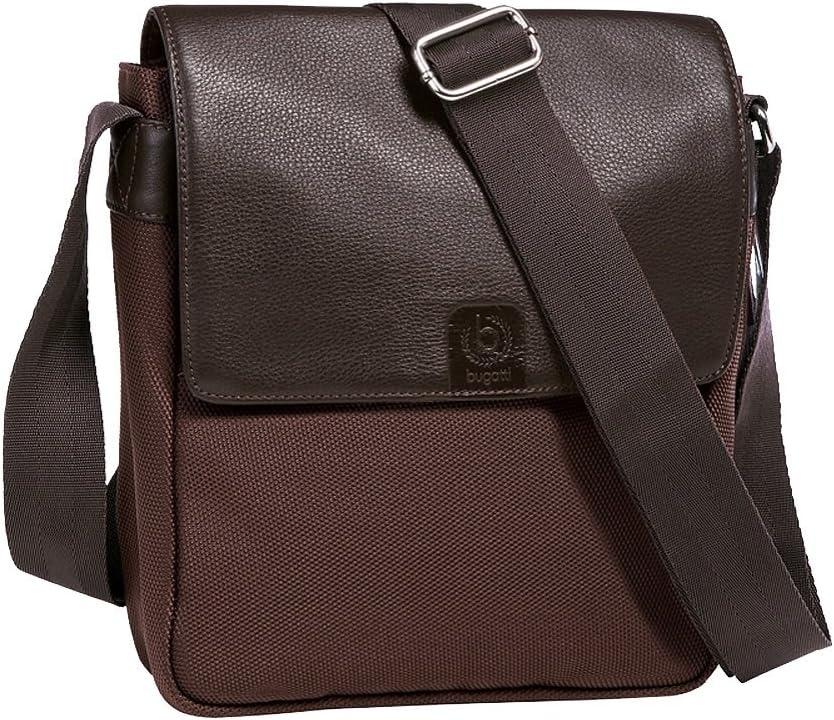 "Bugatti Basel 9"" Upright Medium Messenger Bag (One Size, Brown)"