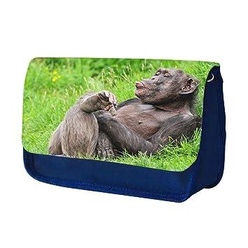Monos 10008, Chimpancé, Azul Escuela Niños Sublimación Alta ...