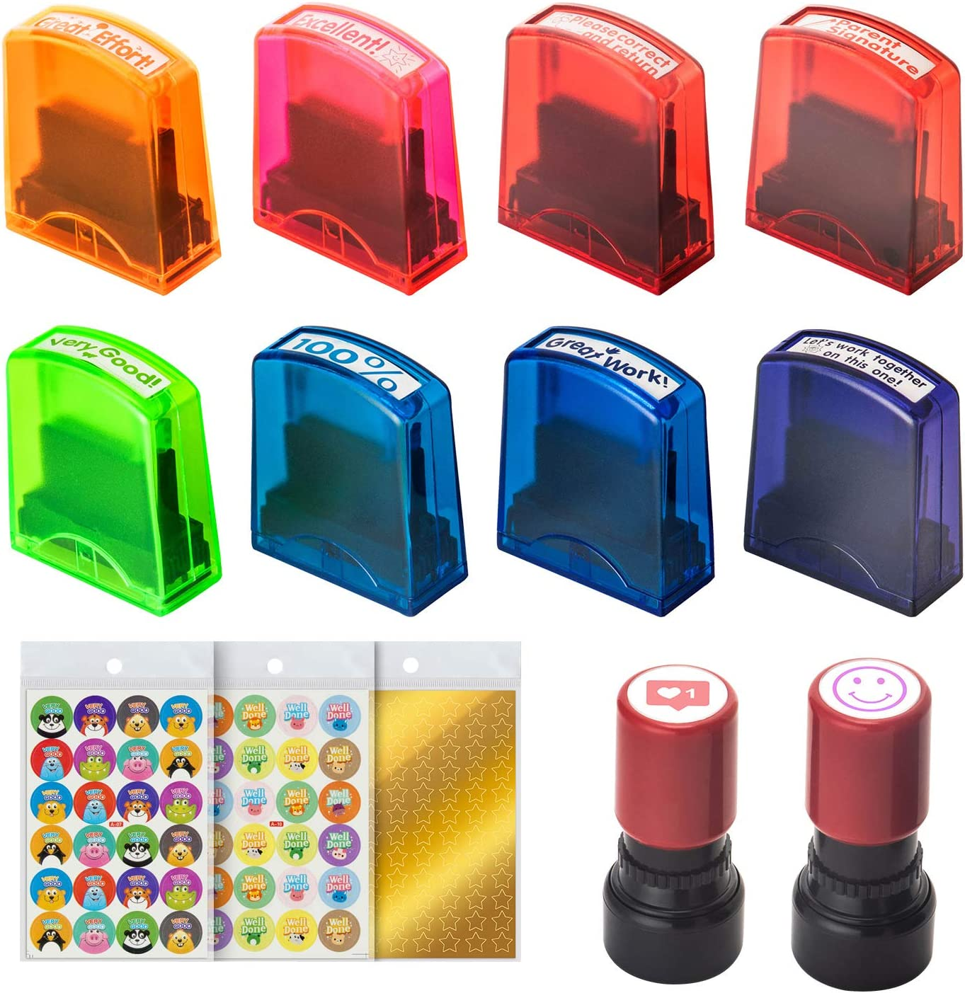 Violet Ink Blue Ink Zein Text Checked Snowflake Symbol Shiny Stamps Personalized Teacher Stamps self Ink Rubber Shiny Printer S-520 Stamp