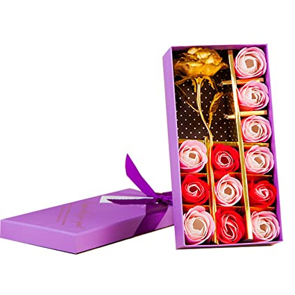 Fête Saint Rose Boîte Bain D'or 12pcs Décoratifs Parfumé Anniversairemariagejourla Fleur Cadeau Bouquet Kyerivs Savon Pour Valentin De H2ED9YWI