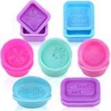 HEHALL Soap Mold - 21pcs Square Round Oval Silicone Molds - Food-Grade Silicone Handmade