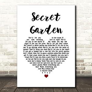 Secret Garden White Heart Song Lyric Quote Music Print