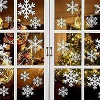 WYCY Decoraciones Navideñas 162 PCS Pegatinas de Copo de Nieve Navideñas Pegatinas Electrostáticas de Copo de Nieve…