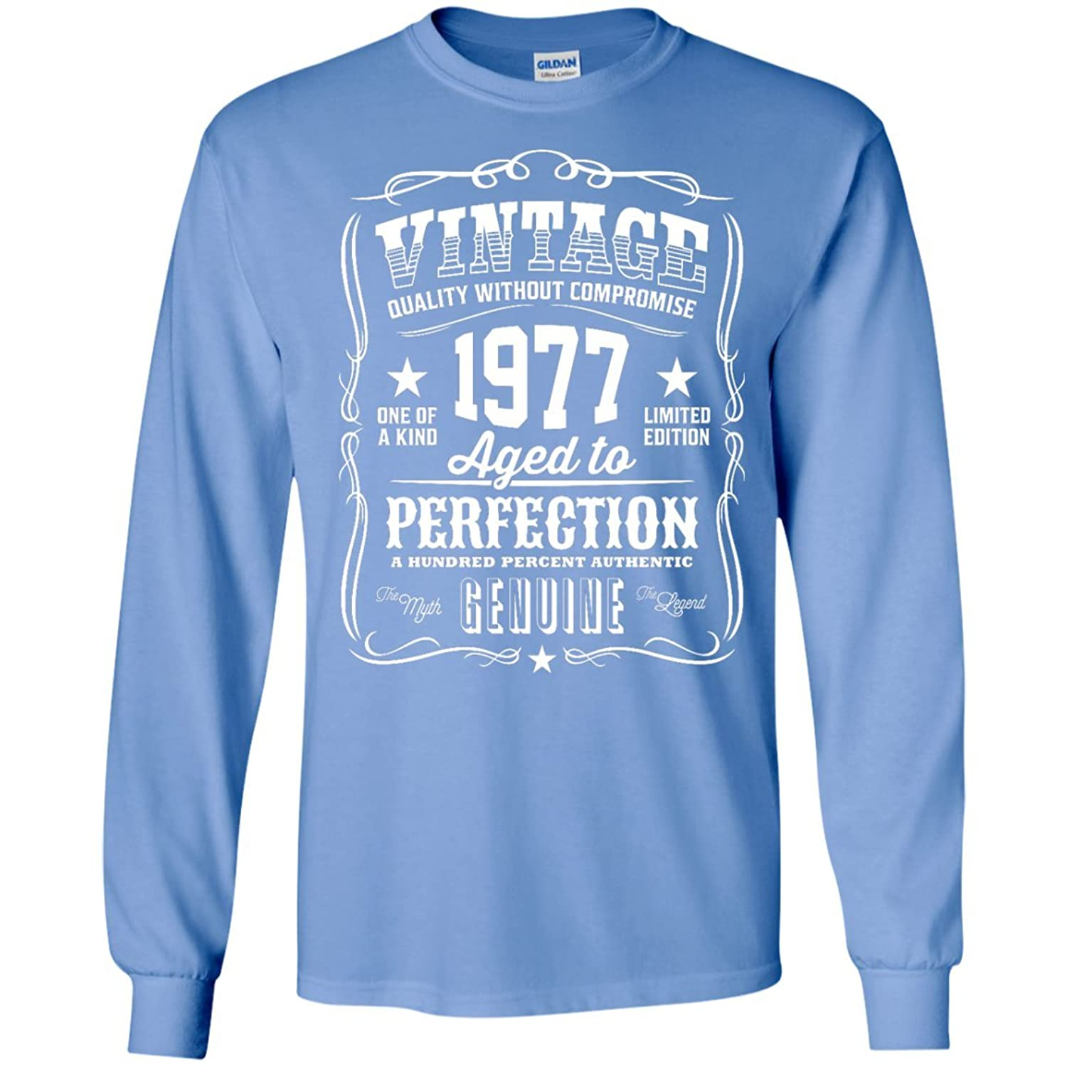 40 aged to perfection Made in 1977 Men size Long Sleeves